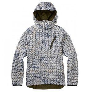 Burton Cabin Womens Pullover Jacket - Dove Knit